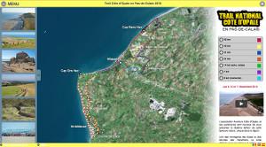 Capture du site Trail Côte d'Opale en Pas-de-Calais 2019